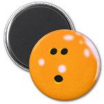 Imán de la bola de bolos (naranja)