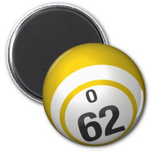 Imán de la bola del bingo de O 62
