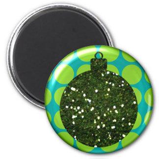 Imán de la bola del ornamento del navidad