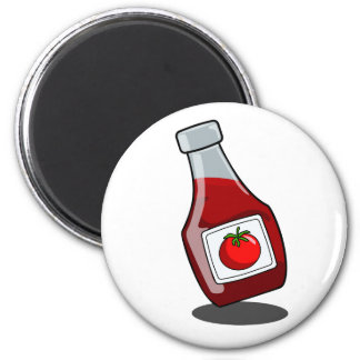 Imán de la botella de salsa de tomate del dibujo a