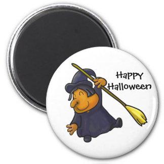 Imán de la bruja de Halloween