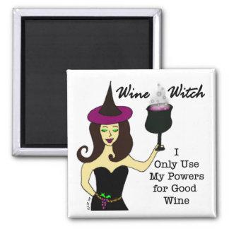 Imán de la bruja del vino