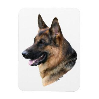 Imán de la cabeza de perro de pastor alemán