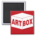 Imán de la caja del arte
