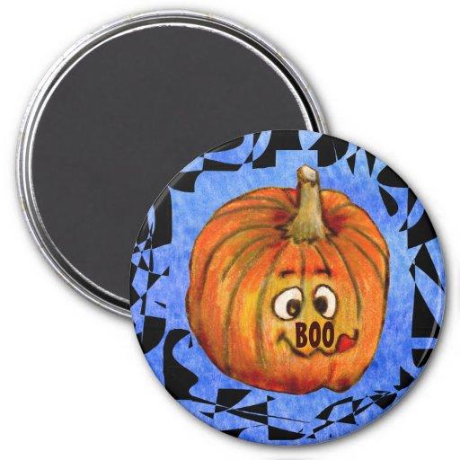 Imán de la calabaza de Halloween de la calabaza de
