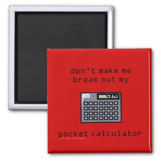 imán de la calculadora de bolsillo