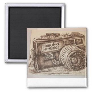 Imán de la cámara de Minolta del vintage