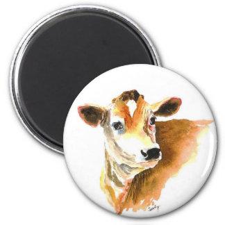 imán de la cara de la vaca