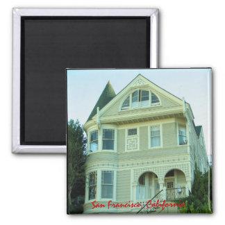 Imán de la casa del Victorian de San Francisco