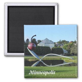 Imán de la cereza de Minneapolis y de la foto de