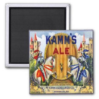 Imán de la cerveza inglesa de Kamm