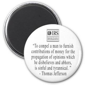Imán de la cita de Jefferson