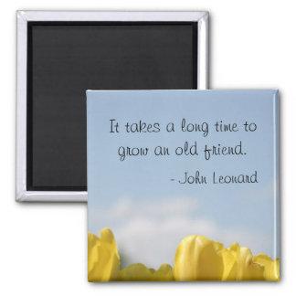 Imán de la cita de la amistad