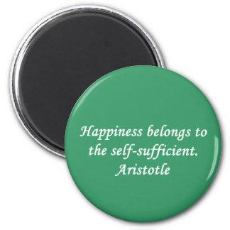 Imán de la cita de la felicidad de Aristóteles