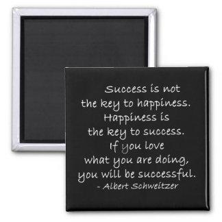 Imán de la cita de la felicidad y del éxito
