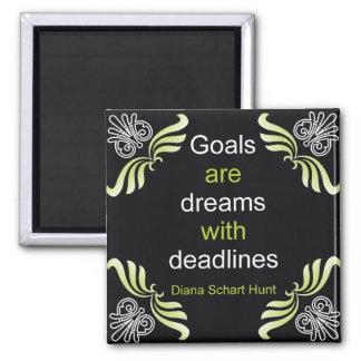 Imán de la cita de las metas