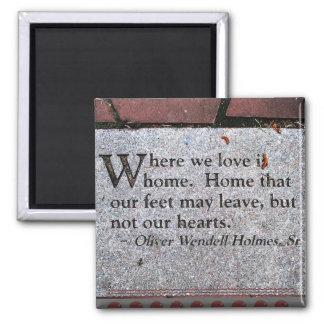Imán de la cita de Oliverio Wendell Holmes