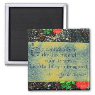 Imán de la cita de Thoreau
