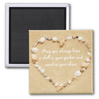 Imán de la cita del corazón del Seashell