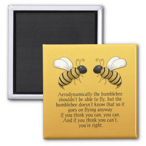 Imán de la cita del estímulo de los abejorros