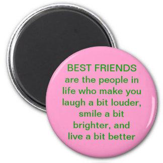 Imán de la cita del mejor amigo