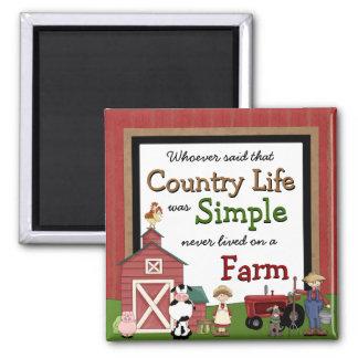 Imán de la cocina de la vida en el campo