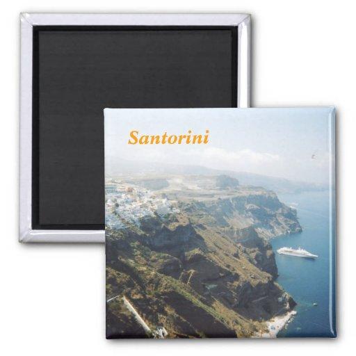 Imán de la cocina de Santorini