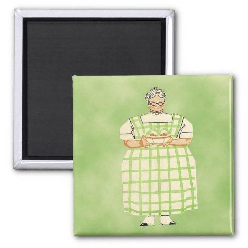 Imán de la cocina del cocinero de la abuela del vi