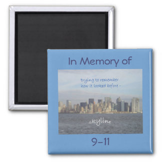 Imán de la conmemoración del arte 9-11 del Haiku