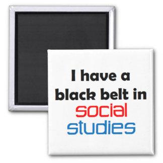 Imán de la correa negra de los estudios sociales