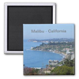¡Imán de la costa de Malibu! Imán Cuadrado