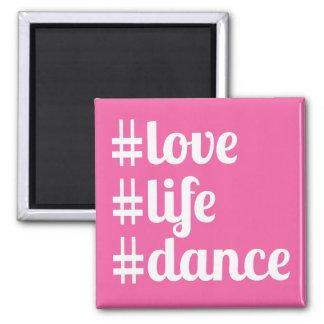 Imán de la danza de la vida del amor