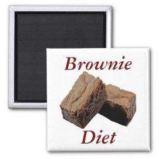 Imán de la dieta del brownie
