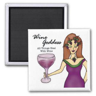 Imán de la diosa del vino