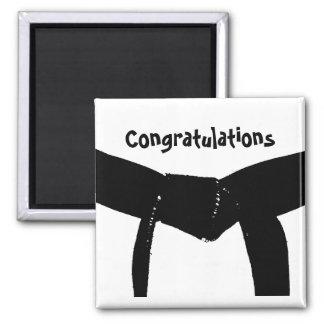Imán de la enhorabuena de la correa negra de los a