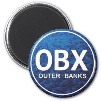 Imán de la etiqueta de la playa de OBX