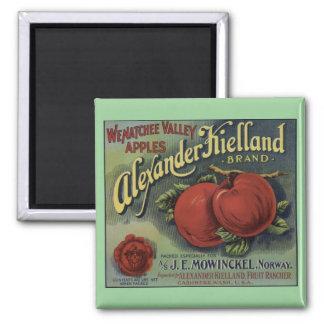 Imán de la etiqueta del cajón de las manzanas de W