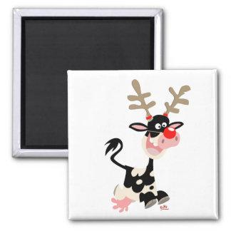 Imán de la falsificación del reno del navidad