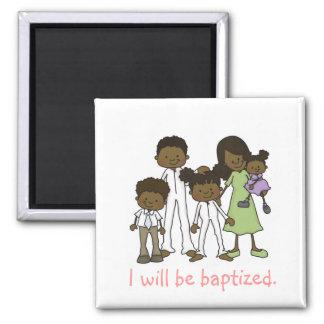 Imán de la familia del bautismo