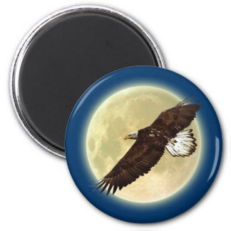 Imán de la fauna de EAGLE CALVO que vuela y de la