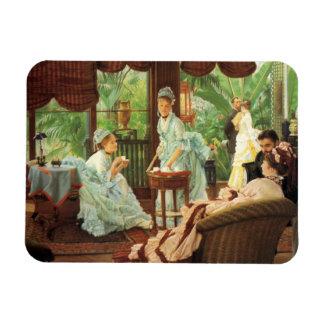 Imán de la fiesta del té del Victorian de James Ti