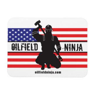 Imán de la flexión de Ninja del campo petrolífero