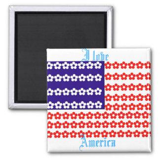 Imán de la flor de la bandera americana