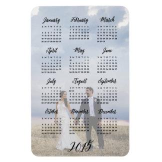 Imán de la foto de 2015 calendarios