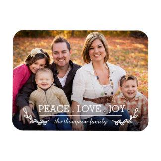 Imán de la foto de familia del amor y de la