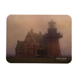 Imán de la foto de la casa ligera del Block Island