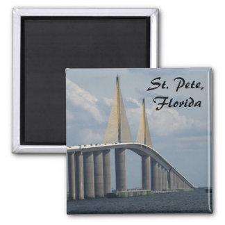 Imán de la foto de la Florida del puente de Skyway
