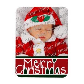 Imán de la foto de las Felices Navidad