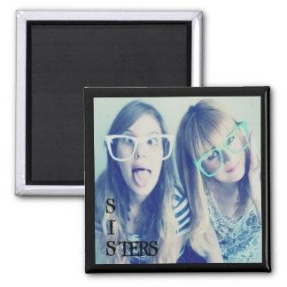 imán de la foto de las hermanas del instagram