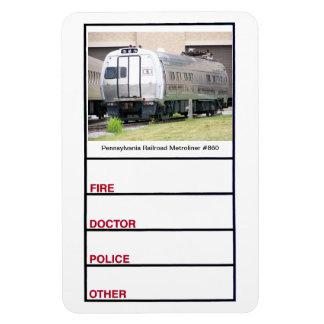 Imán de la foto de Metroliner #860 del ferrocarril